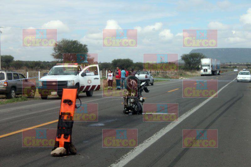 ¡Trágica muerte de un motociclista en Lagos de Moreno!