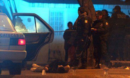 ¡Ultiman a balazos a un desconocido en la colonia Tres Cruces en Guadalupe, Zacatecas!