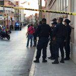 ¡Enfrentamiento entre grupos antagónicos  en pleno Centro de Fresnillo!