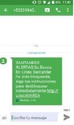 La población debe estar alerta ante posibles fraudes a través de whatsapp o mensajes de texto