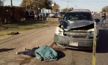 ¡Muere atropellada una mujer en la 45 norte en Jesús María, Aguascalientes!