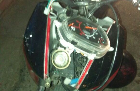Menor conducía motocicleta con reporte de robo