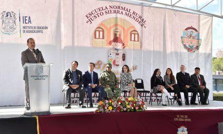 ¡Inaugura Gobernador los festejos del 81° aniversario de la Escuela Rural Normal Rural Justo Sierra Méndez!