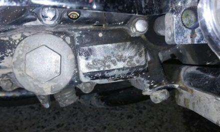 Aseguran elementos de la SSPE motocicleta  con alteraciones