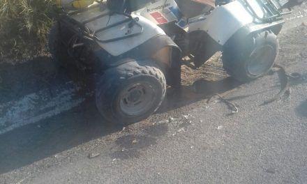 Motociclista resultó lesionado tras accidente en la salida a Calvillo