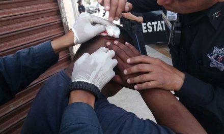 Elementos de la SSPE detuvieron a sujeto que agredió con un martillo a un oficial