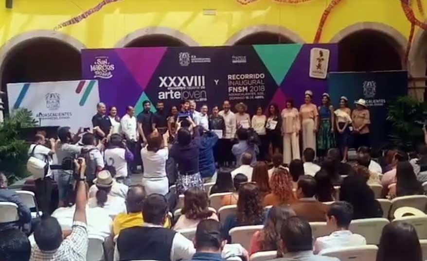 ¡Preside el Gobernador la premiación a los ganadores del 38° Encuentro Nacional de Arte Joven!