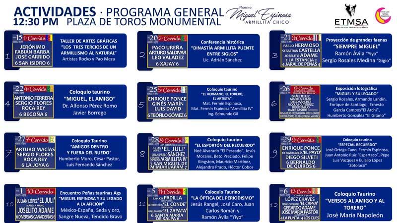 """Actividades en honor al Maestro Miguel Epinosa """"Armillita Chico"""" dentro del Serial Taurino San Marcos 2018"""