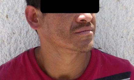 Aseguran en el municipio de Calvillo a un presunto vendedor de drogas