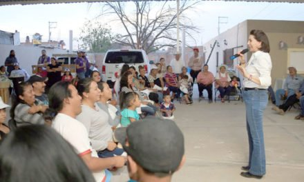 ¡Compromete Lorena Martínez direccionar recursos federales desde el senado para obra pública en Tepezalá!