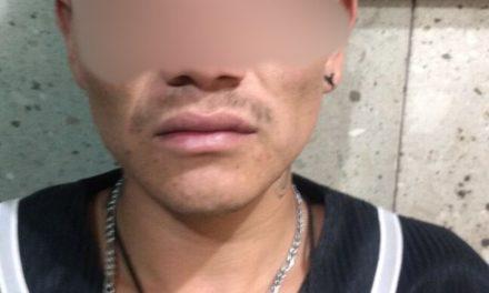 Detienen en Jesús María, a presunto ladrón en posesión de droga