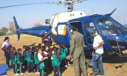 """SSPE participó en el programa """"Un Día con tu Policía"""" que se llevó a cabo en el municipio de Tepezalá"""