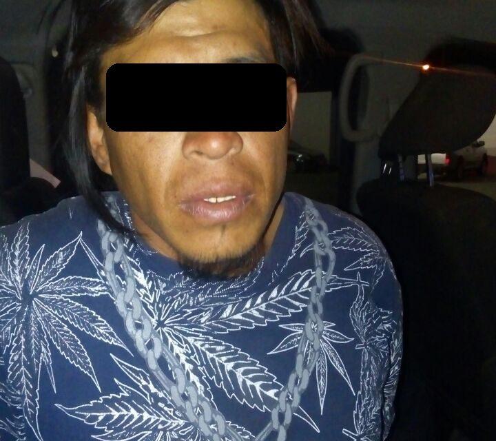 Presunto tumbador fue detenido en el Municipio de Pabellón de Arteaga