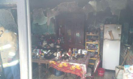Se registra incendio en casa habitación en el municipio de Rincón de Romos