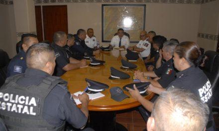 Se reúne el Secretario de Seguridad Pública del Estado con mandos operativos