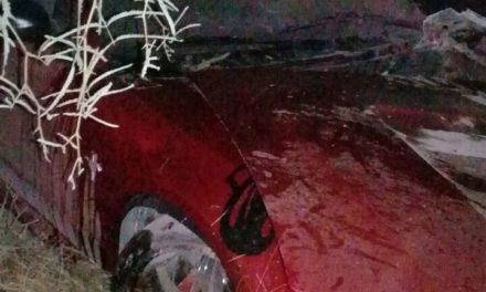 Accidente salida de camino en el municipio de Pabellón de Arteaga