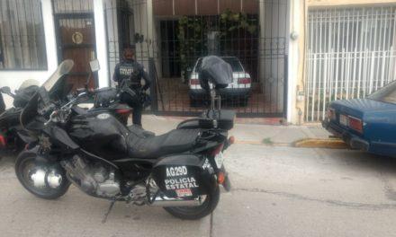 Tras inmediata intervención de la Policía Estatal, fue localizado un vehículo en el fraccionamiento Del Valle