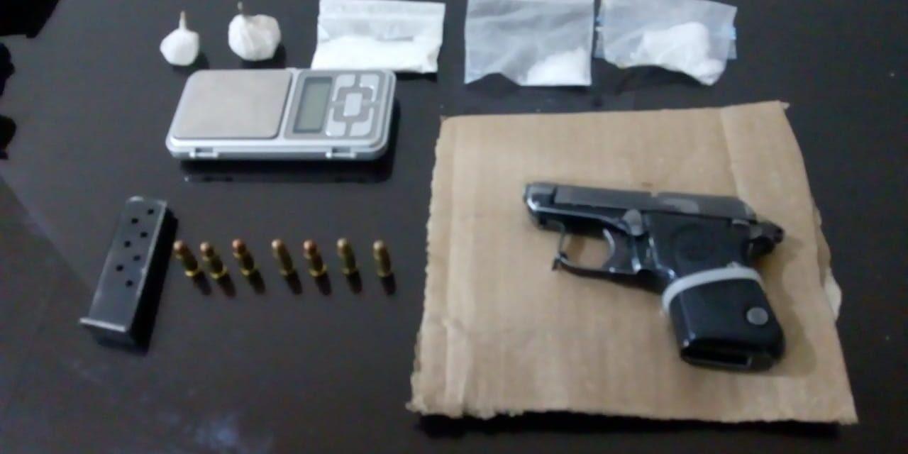 Captura Policía Estatal a dos personas en posesión de droga y un arma de fuego