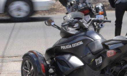Conducía motocicleta robada y fue capturado por la policía estatal