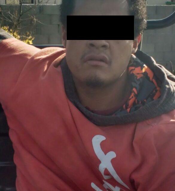Capturan en el municipio de Cosio a presunto distribuidor de droga que es blanco proritario en la demarcación