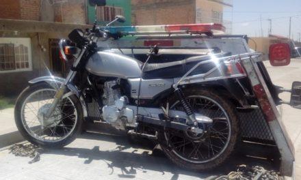 Motocicleta con reporte de robo, fue recuperada en el municipio de Cosío