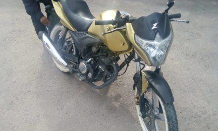 Motocicleta con reporte de robo fue recuperada en el municipio de Jesús María