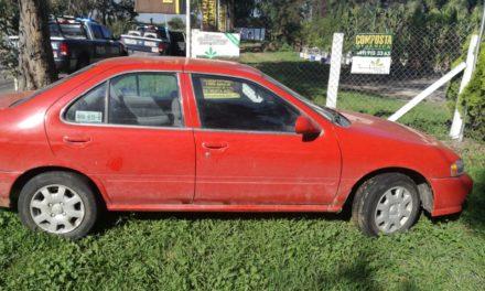 Vehículo con reporte de robo fue recuperado en Pabellón de Arteaga