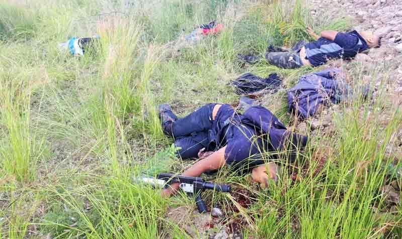 GALERÍA/Policías Federales abaten a 8 delincuentes del CJNG en Jerécuaro, Guanajuato