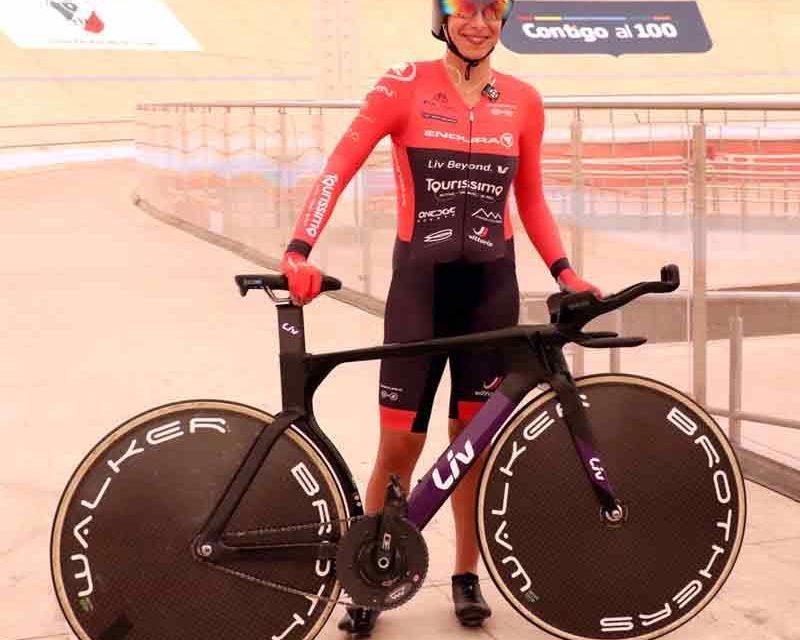 ¡Victoria Bussi buscará romper el récord de la hora UCI en el velódromo Morales Shaddi!