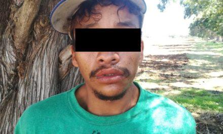 Detienen en Rincón de Romos a sujeto señalado por robo de equipo de riego