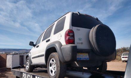 Camioneta con reporte de robo fue recuperada en el municipio de Jesús María