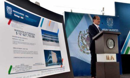 ¡Inaugura el Gobernador escuela de nueva creación en VNSA por 126 MDP!