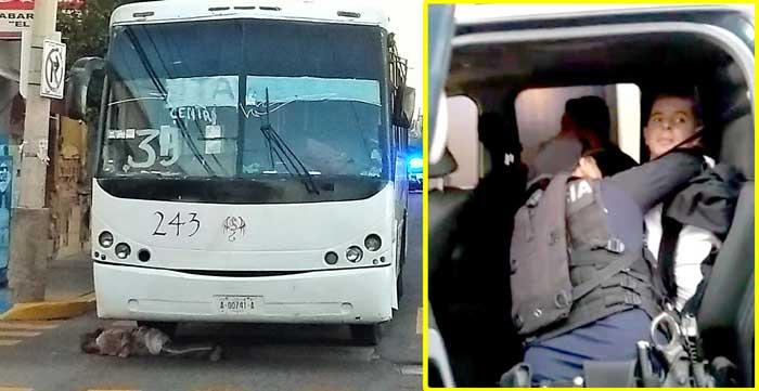 ¡Camión urbano de la Ruta 39, atropella y mata a una ancianita en Aguascalientes!