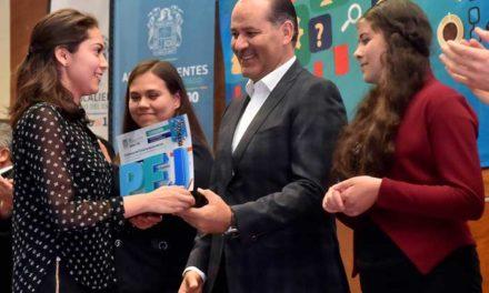 ¡Reconocen a jóvenes de Aguascalientes con el Premio Estatal de la Juventud 2018!