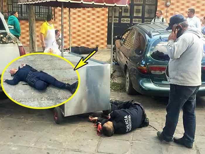 ¡Ejecutan en pleno rondín a dos policías municipales en Guadalupe!