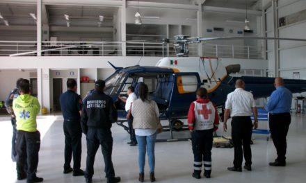 Acuerdan protocolos para activación del helicóptero Aguila 1 como ambulancia aérea