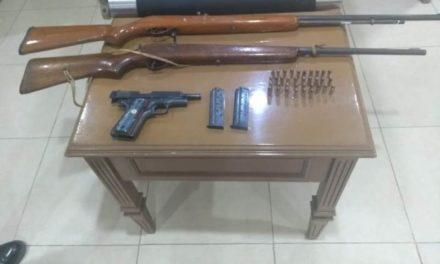 Capturan elementos de la SSPE y de la policía municipal de Calvillo a cuatro personas con armas de fuego