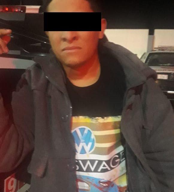 Presunto distribuidor de narcóticos fue detenido en Pabellón de Arteaga con 150 dosis de crystal