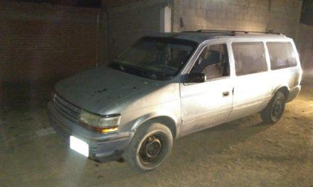 Camioneta con reporte de robo fue recuperado en el municipio de Asientos