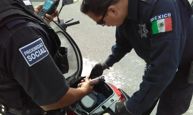 Conducía motocicleta robada y fue detenido en el municipio de Cosío