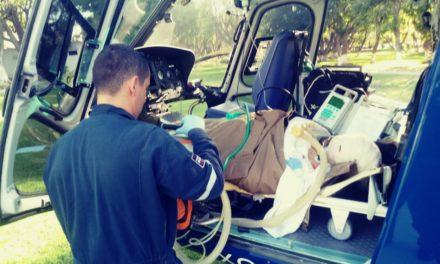 Helicóptero Águila 1 traslada a lesionado con quemaduras graves al Centro Médico de Occidente en Guadalajara, Jalisco