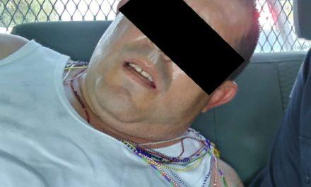 Tras operativo por tierra y aire, elementos de la SSPE capturaron a un presunto asaltante implicado en un robo a cuentahabiente