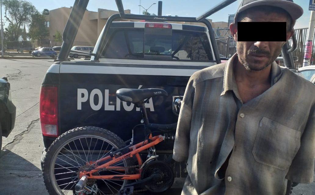 Detienen en Tepezalá a sujeto señalado por robo de una bicicleta