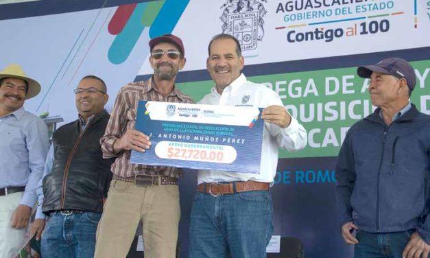 ¡Productores de Rincón de Romos recibieron apoyos del Gobierno del Estado para una mayor productividad agrícola!
