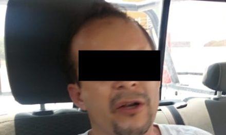 Por daños y lesiones en contra de su pareja sentimental, fue detenido en el municipio de Jesús María