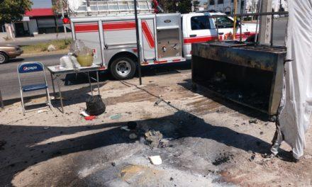 Bomberos estatales y policías municipales de Jesús María atienden reporte de flamazo