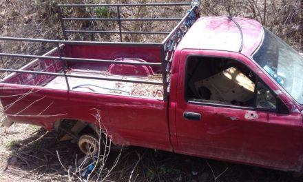 Vehículo con reporte de robo fue recuperado en el municipio de Calvillo