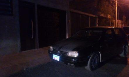 Vehículo que portaba placas sobrepuestas fue asegurado en Rincón de Romos