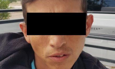 Presunto distribuidor de enervantes fue detenido en el municipio de Rincón de Romos