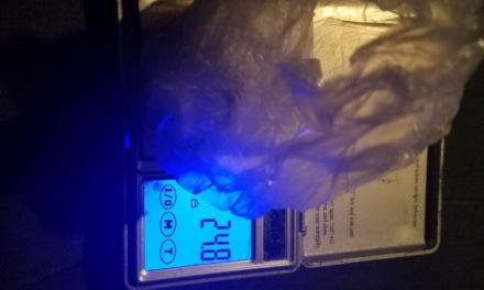 Alrededor de 25 gramos de droga crystal le fueron asegurados a un individuo en el municipio de Asientos